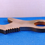 Internal gear segment surface broached using a high speed broaching machine.