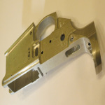 "Firearms: Lower receiver for semi-automatic rifle. Broached on a horizontal machine using a 78"" pull broach."
